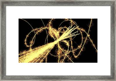 Particle Physics Experiment, Artwork Framed Print by Equinox Graphics