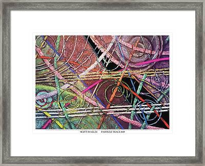 Particle Track Forty-nine Framed Print