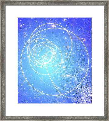 Particle Tracks On Galaxies Framed Print by Mehau Kulyk