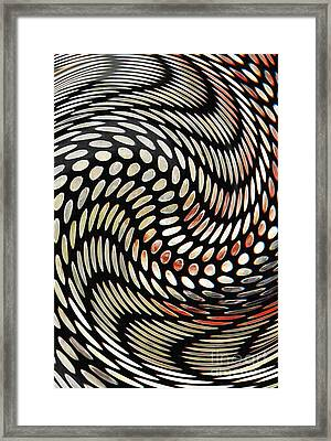 Particles In Curved Space Framed Print by Sarah Loft