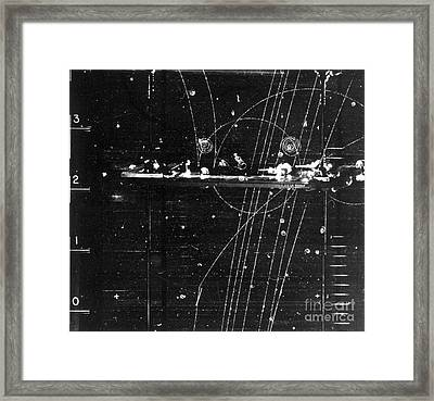 Particles Pass Through Lead Shielding Framed Print by Science Source
