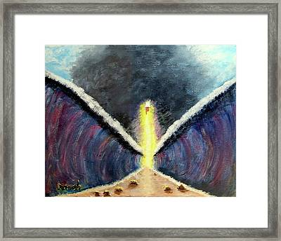Parting Of Red Sea Framed Print