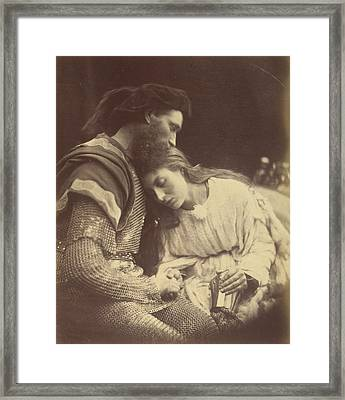 Parting Of Sir Lancelot And Queen Guinevere Framed Print