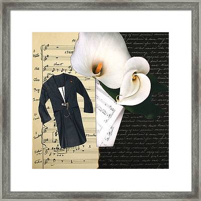 Partituras Framed Print by Irena Orlov