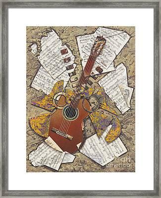 Partituras Framed Print by Ricardo Chavez-Mendez