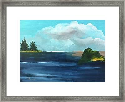 Partly Cloudy Skys Framed Print