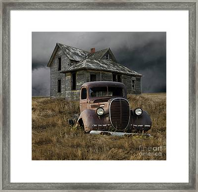 Partners In Time Framed Print by Bob Christopher