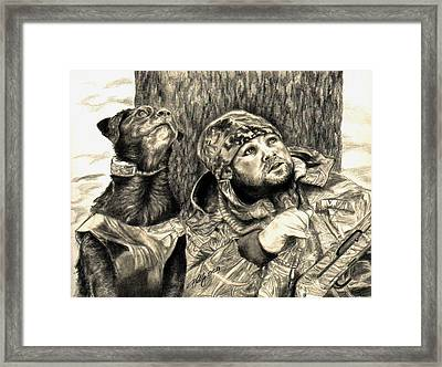 Partners Framed Print by Kathleen Kelly Thompson