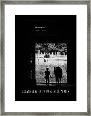 Partners Quote Framed Print by JAMART Photography