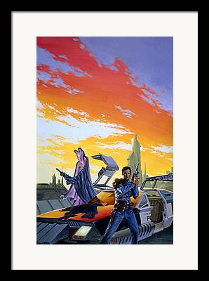 Crime Fighter Paintings Framed Prints