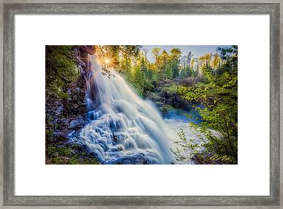 Partridge Falls In Late Afternoon Framed Print