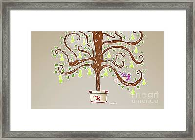 Partridge In A Pear Tree Framed Print