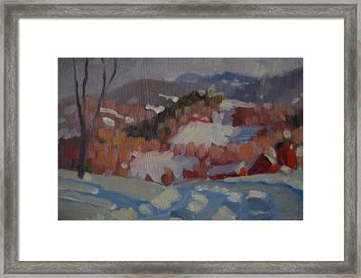 Partridge Road Framed Print by Len Stomski