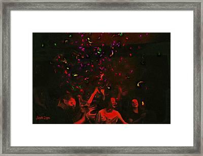 Party And Confetti - Pa Framed Print by Leonardo Digenio