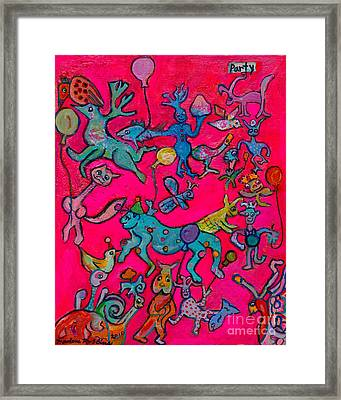 Party Animals Framed Print by Marlene Robbins