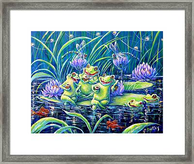 Party At The Pad Framed Print