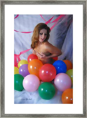 Party Balloon Framed Print by Donna Blackhall