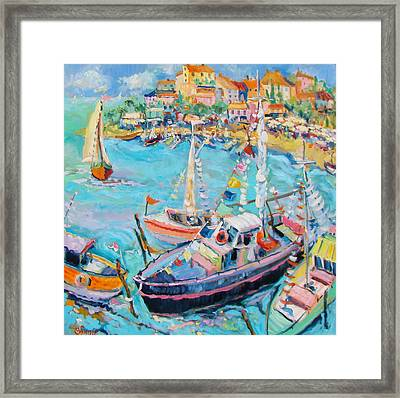 Party Boats Framed Print