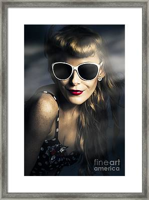 Party Fashion Pin Up Framed Print