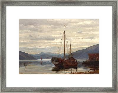 Party From Balestrand Framed Print by Amaldus Nielsen