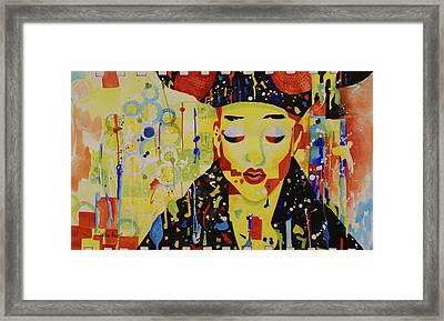 Party Girl Framed Print