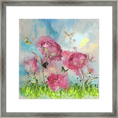 Party In The Posies Framed Print
