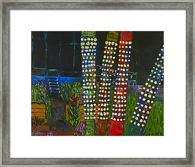 Party Lights I Framed Print by Angela Annas