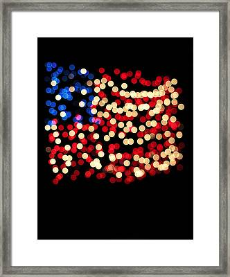 Party Lights In The Shape Framed Print by Gillham Studios