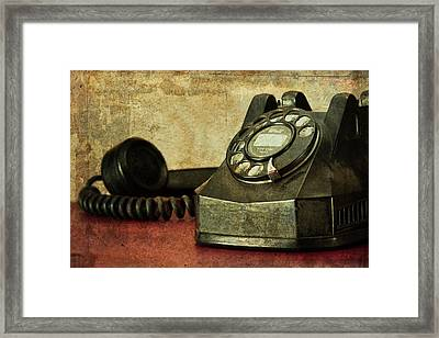 Party Line Framed Print