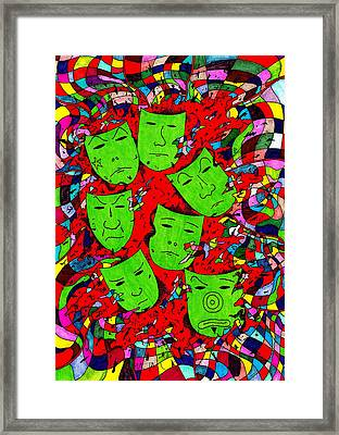 Party Of Seven Framed Print by Teddy Campagna