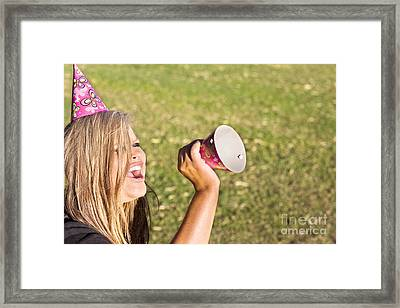 Party Planner Guest Invitation Framed Print