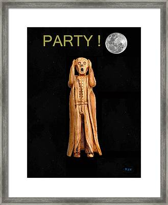 Party Scream Framed Print by Eric Kempson
