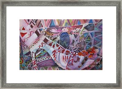 Party Slipper Framed Print by Linda Rupard