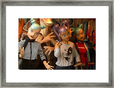 party Teens Framed Print by Jez C Self