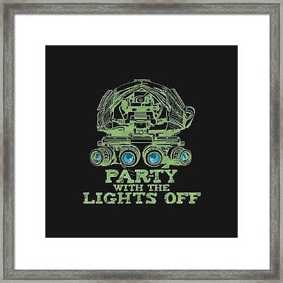 Framed Print featuring the mixed media Party With The Lights Off by TortureLord Art