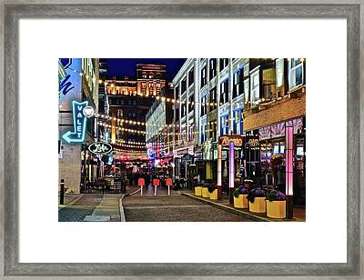 Party Time In Cleveland Framed Print by Frozen in Time Fine Art Photography