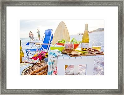 Partying Hard At The Us Virgin Islands Framed Print by Peter Parker