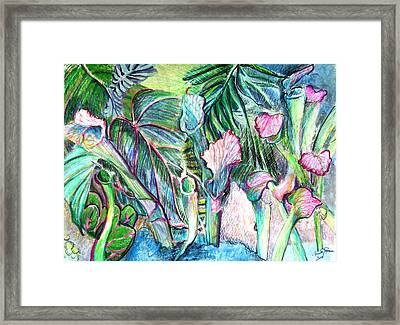 Partying With The Pitcher Framed Print by Mindy Newman