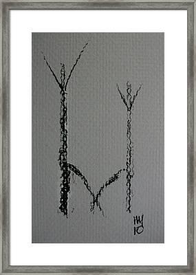 Pas De Deux Framed Print