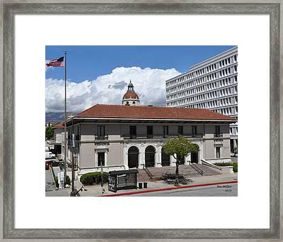 Pasadena's Plaza Station Post Office Framed Print