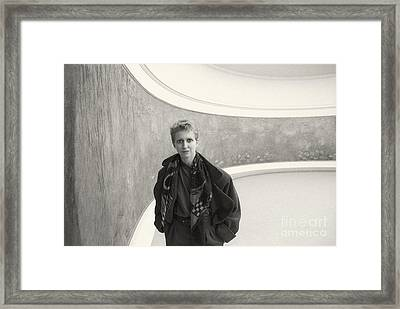 Pascale Nympheas Portrait Framed Print by Philippe Taka