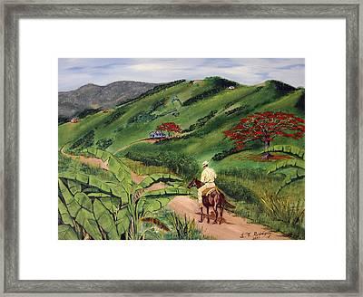 Paseo Por El Campo Framed Print by Luis F Rodriguez