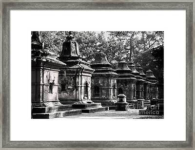 Pashupatinath Temple Lingams Framed Print
