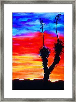 Paso Del Norte Sunset 1 Framed Print