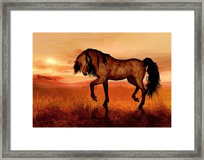Framed Print featuring the painting Paso Fino by Valerie Anne Kelly