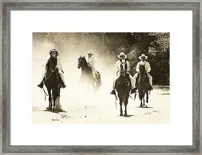 Paso Horse Riders Framed Print