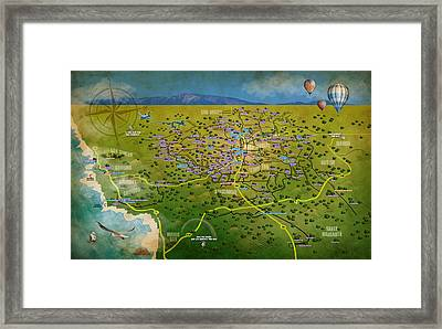 Paso Robles East Side / West Side Wine Tasting Framed Print