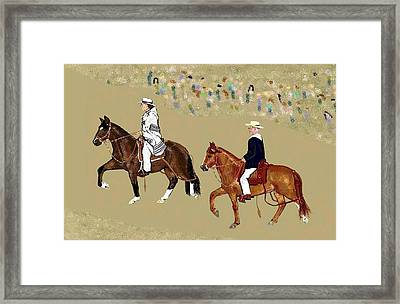 Pasos On Parade Framed Print by Carole Boyd