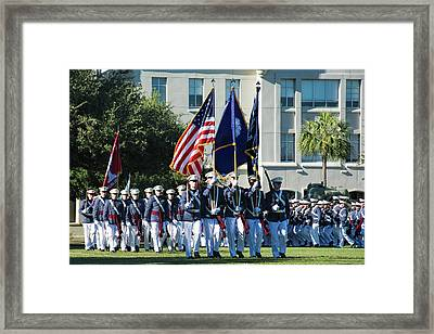 Pass In Review Framed Print