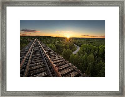 Pass Lake Trestle Framed Print